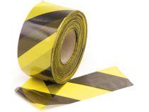 Ruban de signalisation noir/jaune - 500m (1188-500)