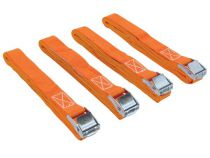 Sangle darrimage avec tendeur à cliquet 200kg - 25mm x 3,6m - 4 pcs (ARAT9-4)