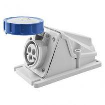 Socle de prise en saillie à 90° étanche - 2p+t 32a 230v 6h (GW62511)