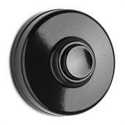 Sonnette avec bouton pousoir en bakélite noire