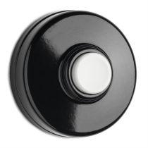 Sonnette avec bouton poussoir en bakélite blanche (100881)