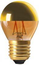 """Sphérique G45 Filament LED \""""Calotte Dorée\"""" 4W E27 2700K 350Lm Dimmable (15653)"""