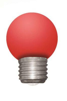 Ampoule spherique led 1w e27 240v rouge quivalent 5 watts for Nouvelles ampoules equivalence watts