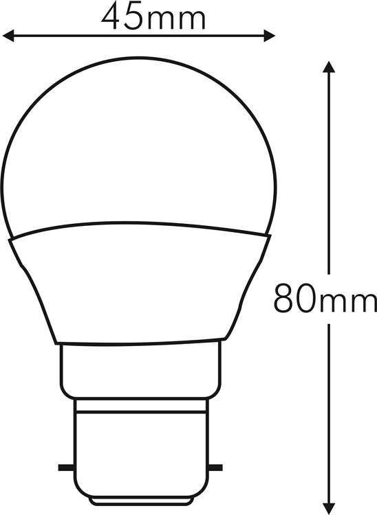 SPHERIQUE LED 5W B22 240V 2700K 330°