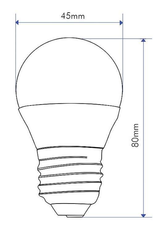 SPHERIQUE LED 5W E27 240V 2700K 330°