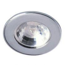 Spot encastré Chrome brillant faible épaisseur (18mm) 12V G4 (ampoule 20W fournie)
