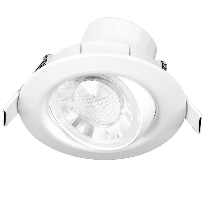 spot encastr led 8w ip44 orientable et dimmable pvc blanc 4000k 680lm. Black Bedroom Furniture Sets. Home Design Ideas