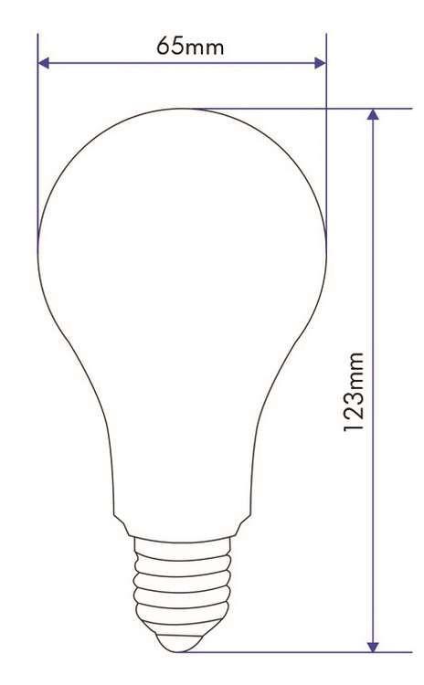 STANDARD LED 12W E27 240V 3000K 330°