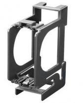 Support pour montage d\'appareils chrus sur rail din  - 2 modules 3 modules din - chorus