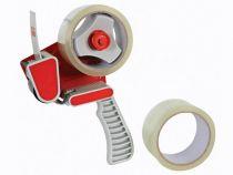 Support pour ruban + 2 rubans adhésifs d emballage - 50mm x 50m (DTDIS2T)