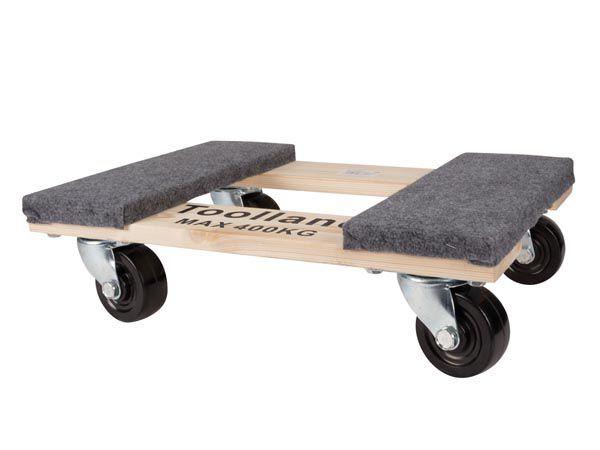 Support roulant pour meubles - rectangulaire - 460 x 320 mm - charge max. 400 kg (QT409)