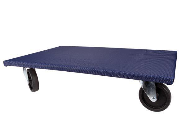 Support roulant pour meubles - rectangulaire - 650 x 400 mm - charge max. 400 kg (QT407)