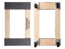 Support roulant pour meubles - rectangulaire - 760 x 460 mm - charge max. 400 kg (QT408)