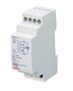 Transformateur pour sonnerie - 10va 230/12+12=24v - 2 modules