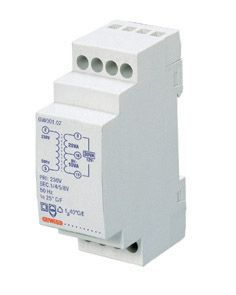 Transformateur pour sonnerie - 40va 230/4+8=12v - 3 modules