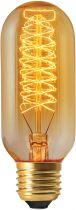 Tube filament métallique spiralé Incandescence 40W E27 2700K 140lm ambrée (15994)