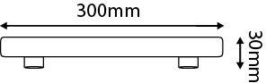 Tube latéral Fluorescent 8W S14S 2700K 325lm  (997008)