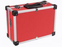 Valise aluminium 330 x 230 x 150mm - rouge (1821-R)