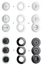 Variateur LED 7-110 W Bakelite blanc (100308)