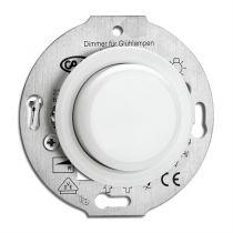 Variateur par pression porcelaine Pour lampes halogènes avec transformateur électronique et lampes à incandescence 20–315 W (173