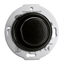 Variateur pour lampes halogénes avec transfo magnétique 20-500W bakelite noire pour cache en verre (100658)