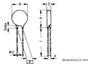 Vdr 300vca/385vcc pas=7.5mm (VDR300)
