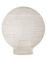 Verrerie Globe D80 p.vis 31,5mm Opaline Strillée (18440)