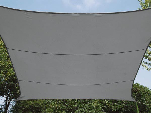 VOILE SOLAIRE PERMÉABLE - CARRÉ - 3.6 x 3.6 m - COULEUR: ANTHRACITE (GSS4360PEC)