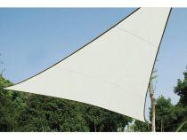 Voile solaire triangulaire - 5 x 5 x 5m, couleur: crème (GSS3500)