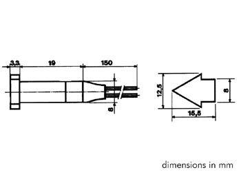 Voyant en forme de fleche 220v - rouge (DFAF220R)