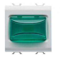 Voyant en saillie - 12v ac/dc / 230v ac 50/60 hz - vert - 2 modules - blanc - chorus